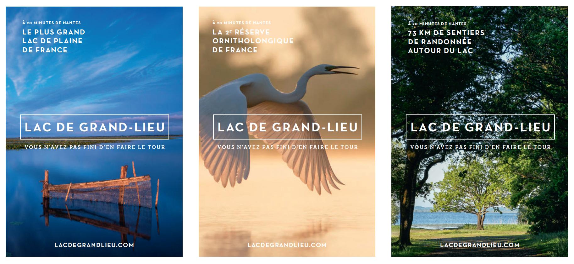 Affiches lac de Grand-Lieu - Loire-Atlantique développement